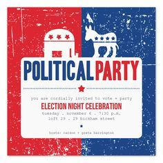 election themed party invite - Google Search