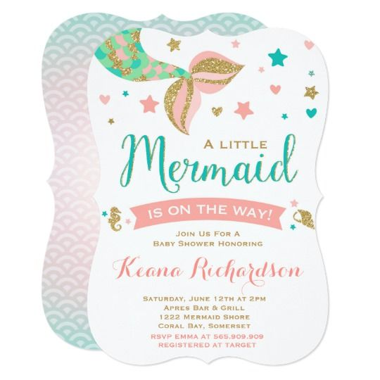 Mermaid baby shower invitation little mermaid baby baby shower mermaid baby shower invitation little mermaid baby filmwisefo