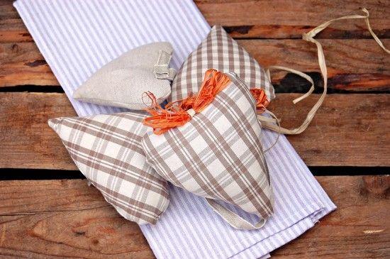 Mamma Papera — Cuori di stoffa imbottiti: tutorial