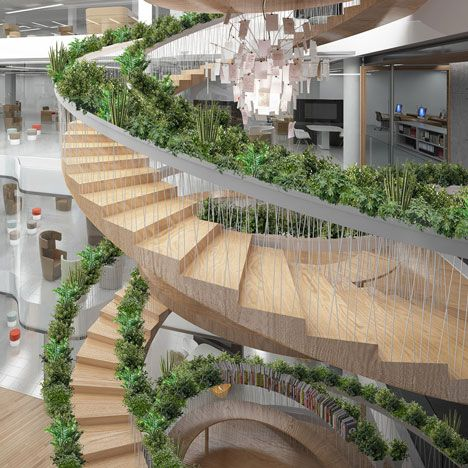 The living staircase  -an purify air -looks nice -act as indoor garden with many plants