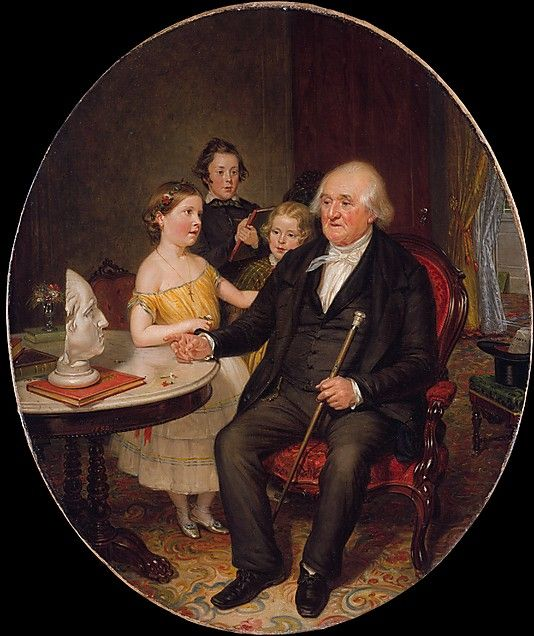 Great-Grand-Father's Tale of the Revolution—A Portrait of Reverend Zachariah Greene, William Sidney Mount, 1852; MMA 1984.192