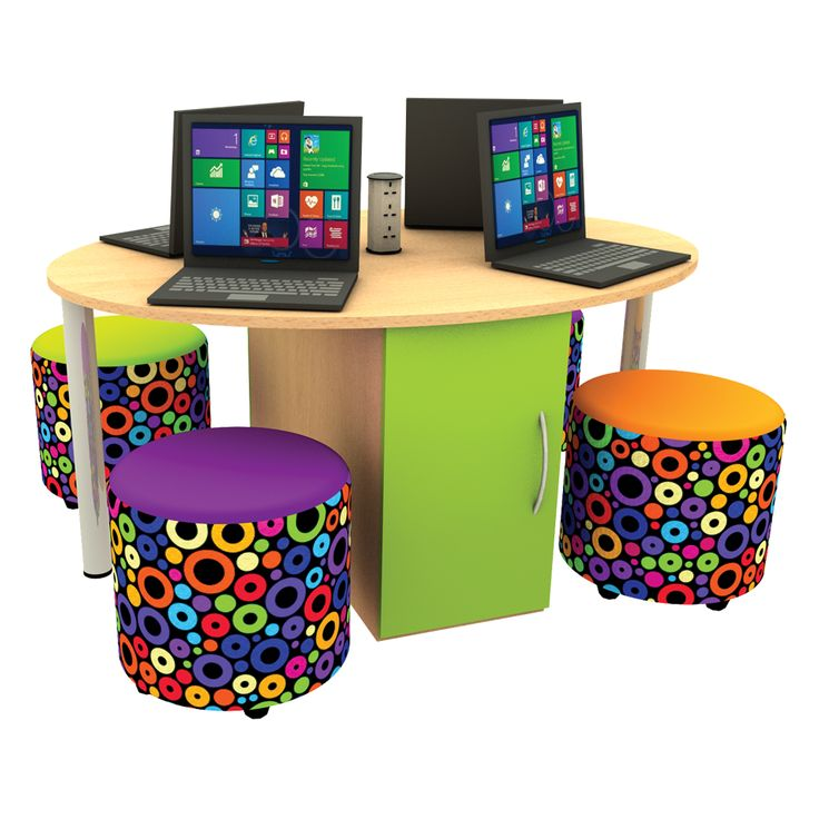 School Library Furniture: Multimedia Table Kit