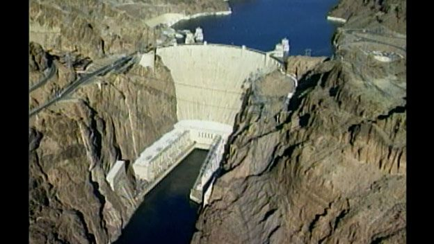 The awe-inspiring Hoover Dam was built in the 1930s from enough concrete to create a two-lane highway from Los Angeles to Boston. How long did America's largest, man-made reservoir take to complete?