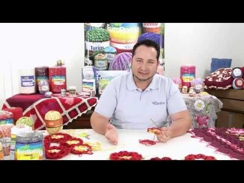 Crochetando com EuroRoma e Marcelo Nunes - Flor Paixão por Roma - YouTube