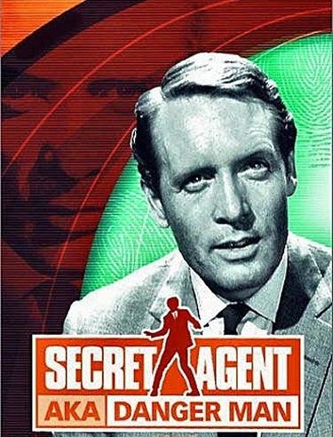 "Secret Agent, Patrick McGoohan - I have this DVD! Love Patrick McGoohan as spy John Drake, and love the theme song. *singing* ""secret agent man. Secret agent man..."""