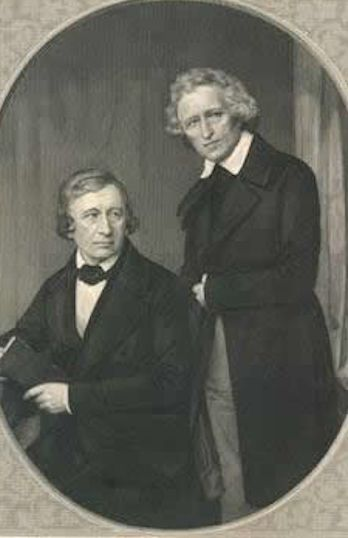 The Brothers Grimm: Jacob 1785 –1863 and Wilhelm 1786 – 1859 great creative imaginations