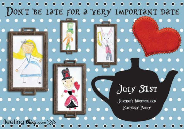 fleetingthing » Alice in Wonderland birthday party (Mad-Hatter place setting template and tutorial)