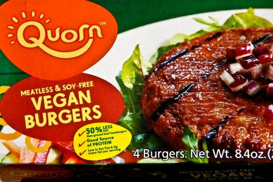 """Share Up until now, Quorn products have always had eggs and dairy gunk in them, so I passed them by. But thanks to having a widely read food blog (thank you MVJ """"fans""""!) Quorn was kind enough to fed-ex a pack of their new vegan burgers to me to try out. Free vegan food delivered to my doorstep?! Yes, please!…"""