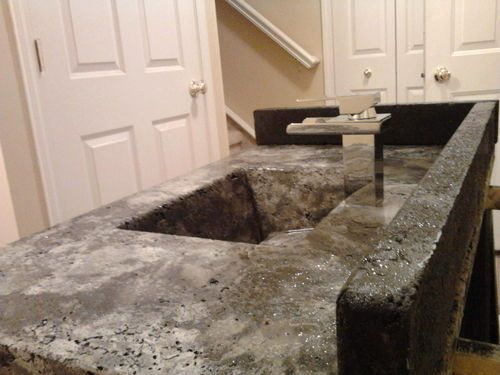 Concrete Countertop Series #8: Molds Removed - Top Surface is Exposed - by Siegel_KenEvil @ LumberJocks.com ~ woodworking community