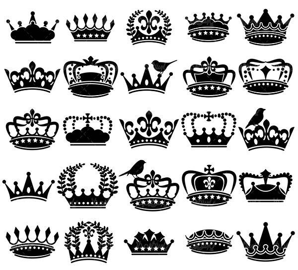 وکتور تاج پادشاه Crown Clip Art Crown Silhouette Clip Art