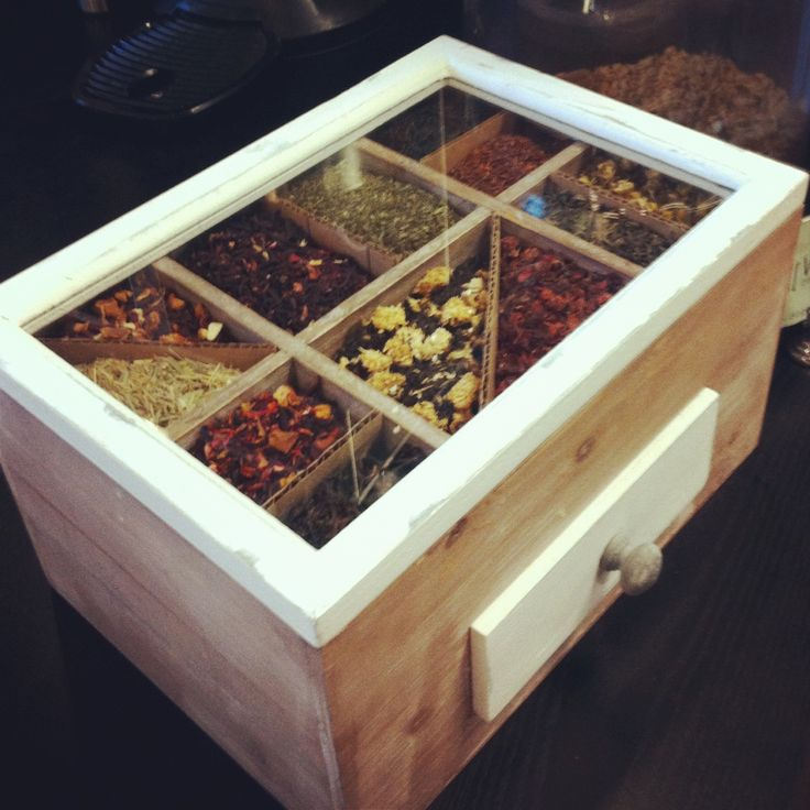 Loose leaf tea display