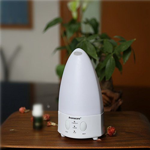 SROCKER AR120 Ultrasonic Cool Mist Humidifier Aromatherapy Essential Oil Diffuser with 7-Color LED Lights and Waterless Auto Shut-off Function for Home/Office/Bedroom (120ml) * You can get more details by clicking on the image.