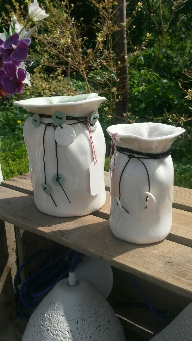 Holbæk -vaser 2 str. #Keramik&Vintagemøbler