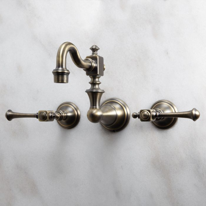 Vintage Wall Mount Kitchen Faucet Lever Handles Hardware Facelift Pinterest Bathroom Faucets And