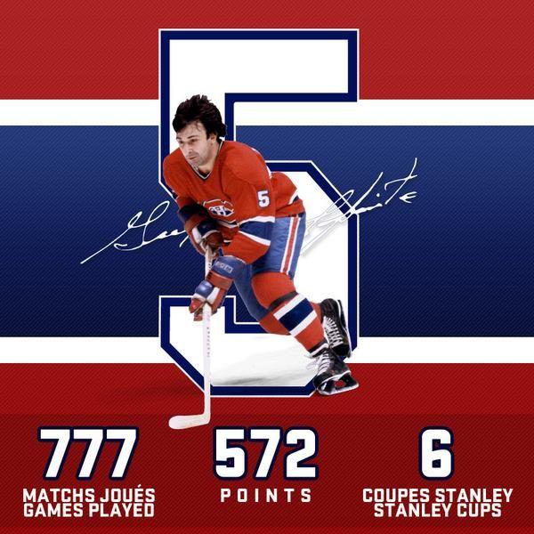 Guy Lapointe Canadiens de Montréal Go Habs Go !!