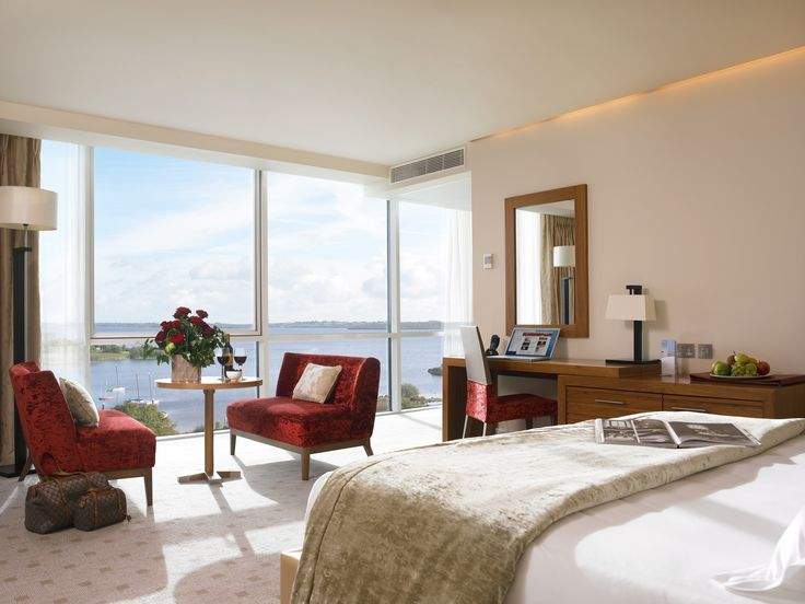 One of our beautiful lakeview rooms in Hodson Retreat with stunning views of Lough Ree.