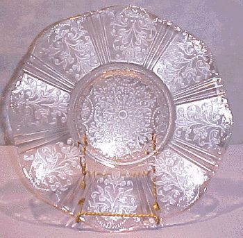 American Sweetheart Pink Depression Glass Plate, 11 in. My mother had one of these.