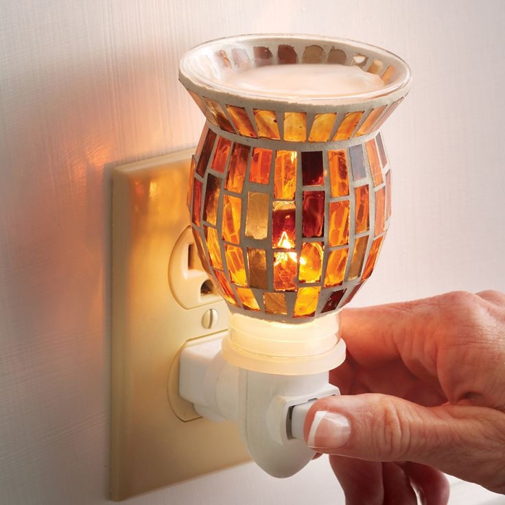 Aromatique Plug-in wax warmer - brown mosaic glass.   Also available in green and red  $16.00