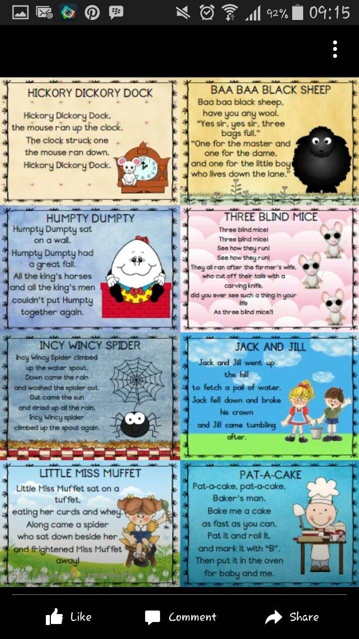 31 best Rhythm and rhymes images on Pinterest | Nursery rhymes ...