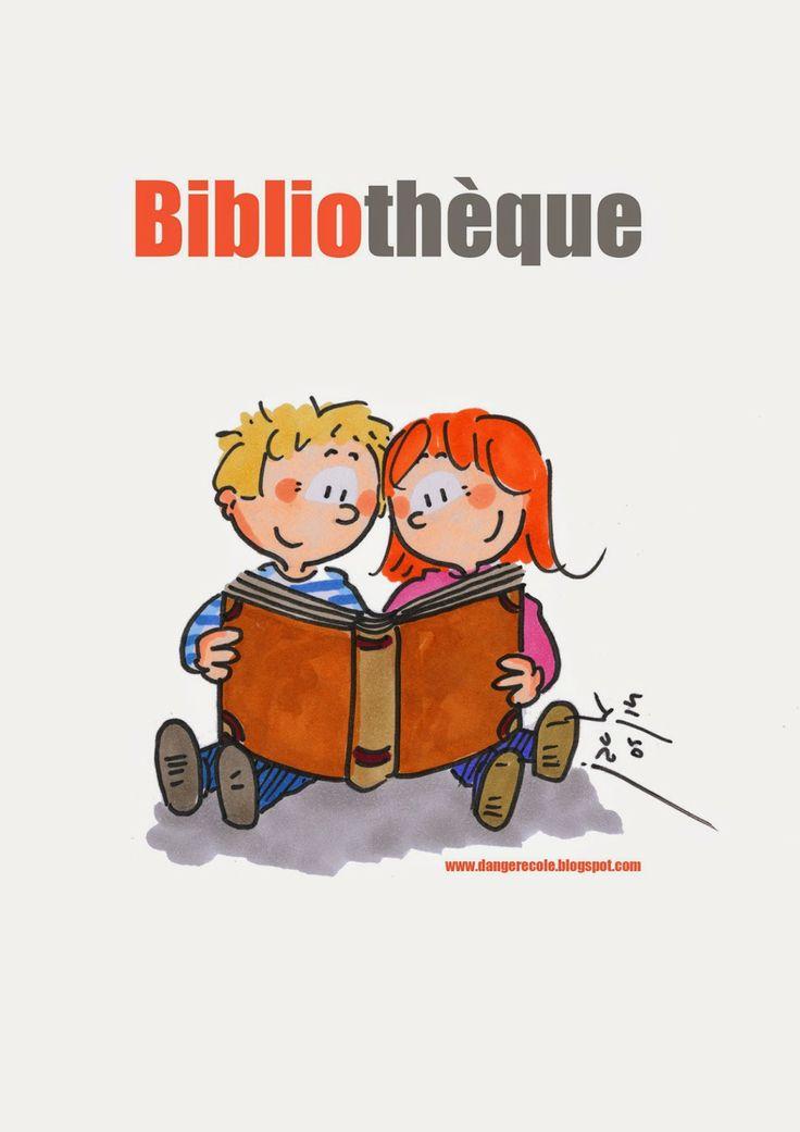 Jolie affiche pour la bibliothèque ou coin lecture en classe