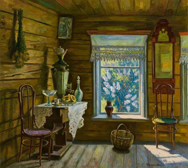 Финогенова Млада Константиновна (Россия, 1941) «Белая сирень» 1989