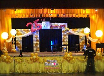 17 best images about 8th grade graduation ideas on for Balloon decoration for stage