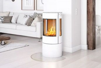 RAIS Viva L 100  #woodburning #stove. Choose among: #colours #sideglass, #topplates #swivelbase #handle - pleanty of different choices to fit your own #interior #deocoration