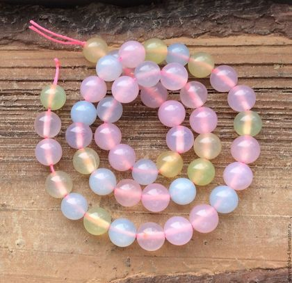 Для украшений ручной работы. Ярмарка Мастеров - ручная работа. Купить Аква халцедон 8 мм мульти шар бусины камни для украшений. Handmade.
