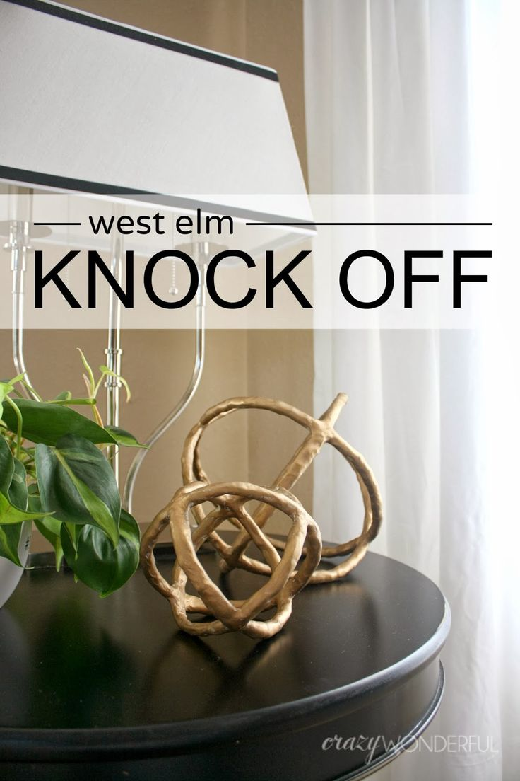 Here's my little West Elm knock off tutorial I've been hinting at!                                 I spotted these sculptural spheres  in ...