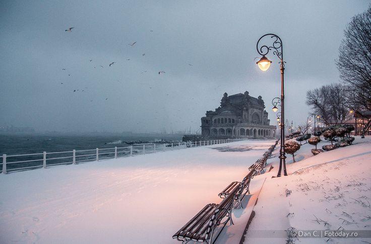 1 - Taken in Constanta, RO Follow on Facebook: fb.com/fotoday  Follow on Twitter: twitter.com/FotodayRo  Follow on Instagram: instagram.com/danbubba #snow #casino #constanta #architecture #beautiful #blue #city #cityscape #clouds #cold #colorful #day #frozen #ice #lights #nikon #sea #seascape #seaside #sky #snow #street #travel #urban #water #white #winter