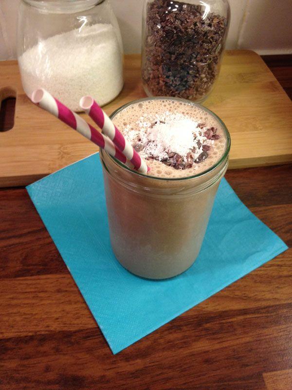 Gezonde chocolade shake