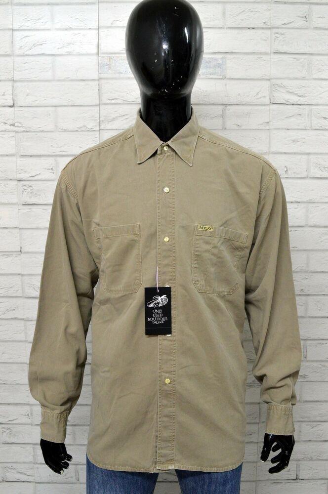 Al Blue Replay Jeans Camicia Nuovo Taglia Shirt Uomo Forte Cotone Maglia Pari zVqMSUp