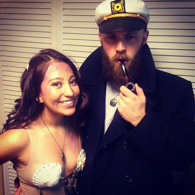 Sea Captain and Mermaid: Love can be on land or on the sea.