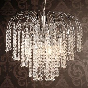 Sunshine In The Dark: Waterfall Four Light Chrome Crystal Chandelier ~ Chandeliers Inspiration