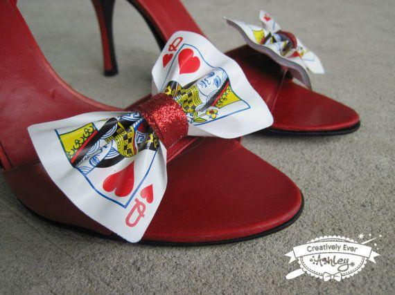Custom real Playing Card shoe clips set door CreativelyEverAshley, $18.50
