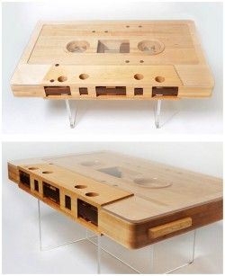 A mixtape coffee table