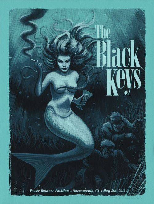 The Black KeysMusic, Gigposters, Keys Posters, Picture-Black Posters, Mermaid Tattoo, The Black Keys, Gig Posters, Johnny Sampson, Concerts Posters