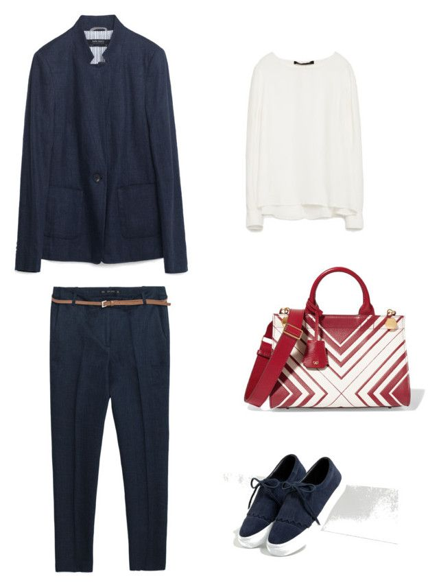 Spring smart casual by the925editor on Polyvore featuring Zara and Anya Hindmarch