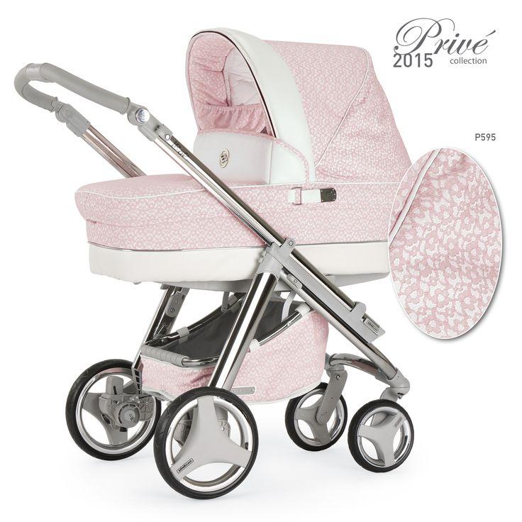 kinderwagen f r m dchen in pink mit zarten bl ten aus. Black Bedroom Furniture Sets. Home Design Ideas