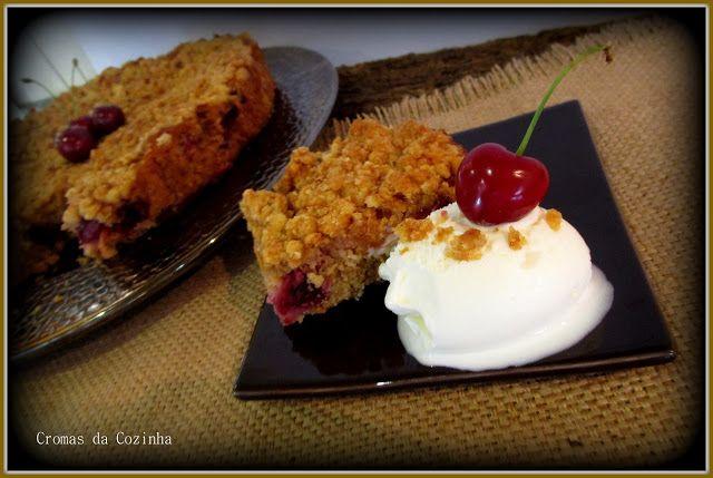cromas da cozinha: Crumble de Cereja