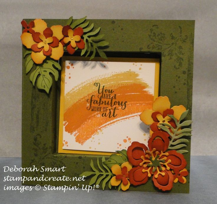 shadow box card OR cut the opening in the front (a window) and put the sentiment inside.