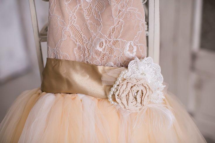 Детское платье кремового цвета | Прокат платьев