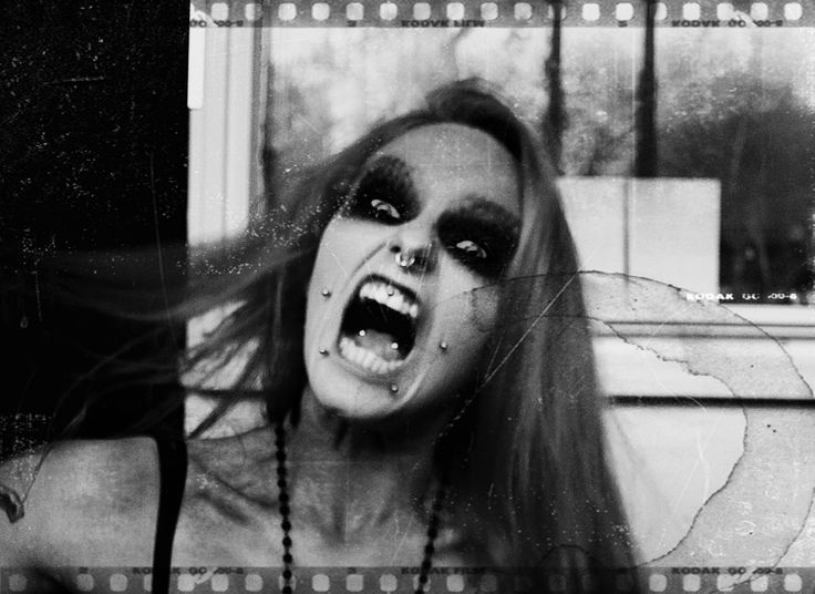 Dark, piercing, tattoo, black and white, b & w, Make up, weird, scary, obsessed, crazy