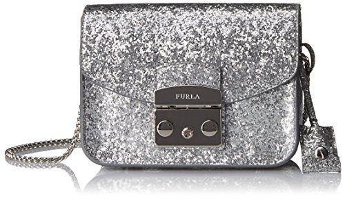 Furla Metropolis Mini Cross Body in Silver - http://www.bagyou.net/furla-bags/furla-metropolis-mini-cross-body-in-silver/