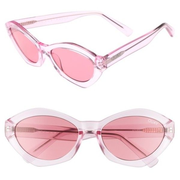 Women's #quayxkylie 54Mm As If Oval Sunglasses (3.720 RUB) ❤ liked on Polyvore featuring accessories, eyewear, sunglasses, quay sunglasses, star glasses, pastel glasses, quay eyewear and star eyewear