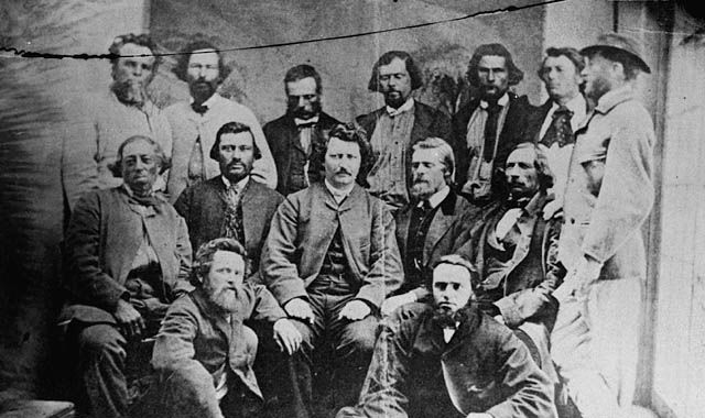 first metis provisional government who fought for our culture and our people, center is louis riel, the first prominent metis leader