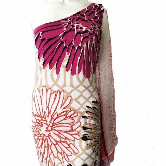 Off the shoulder floral cocktail dress Spandex silk mix lined dress Dresses