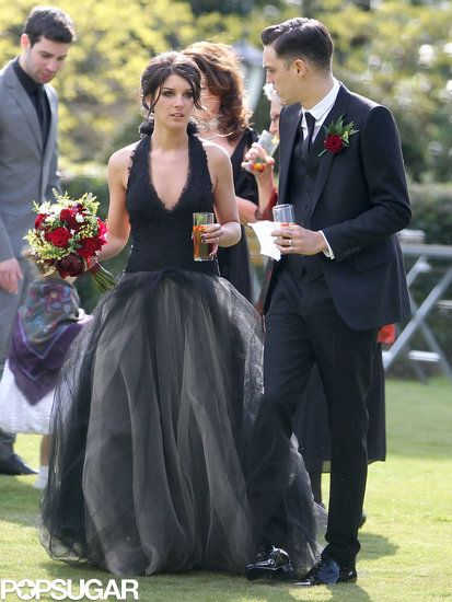 Shenae Grimes Marries — in a Black Dress!: Shenae Grimes wore a black Vera Wang wedding gown for her wedding to Josh Beech outside of London.