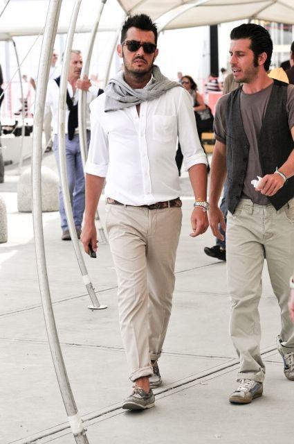 Stylish Italian men's fashion at PITTI UOMO in Florence ...