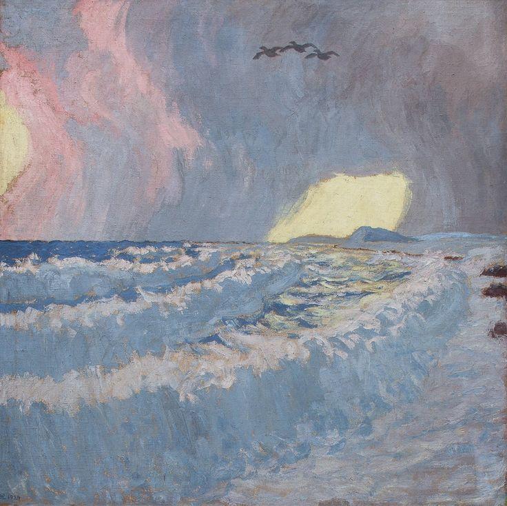 The Eider Trilogy, Morning by Johannes Larsen, 1948